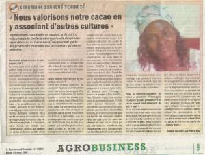 campagne cacao Conaprocam par Gérardine Sonkoué